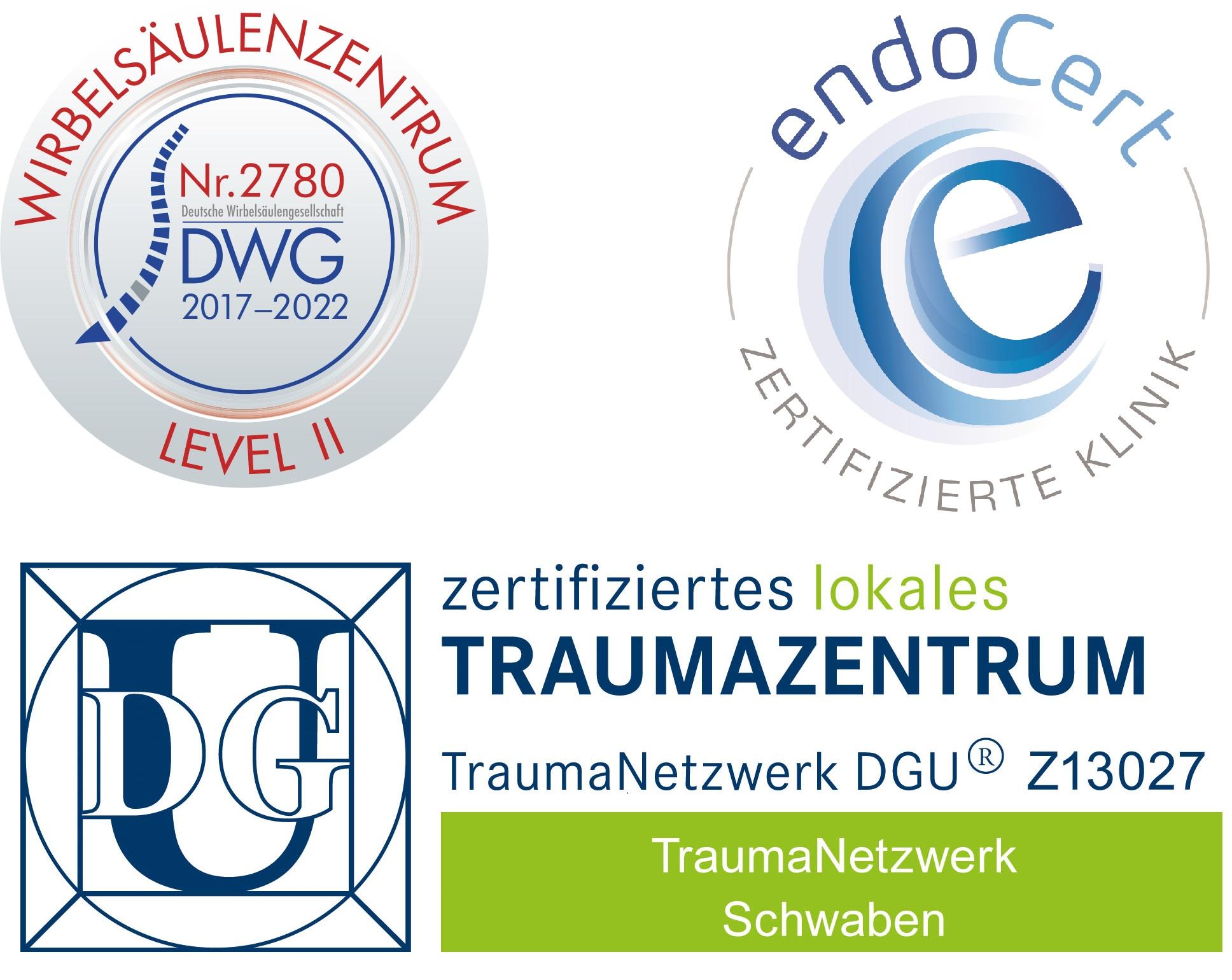 Zertifikate Wirbelsäulenzentrum Donauwörth