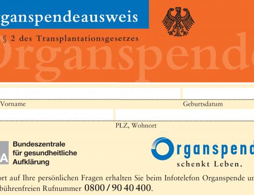 """""""Organspenden retten Leben"""""""