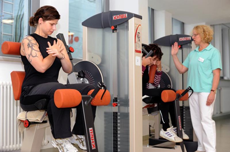 Trainingsraum Schmerztagesklinik Nördlingen